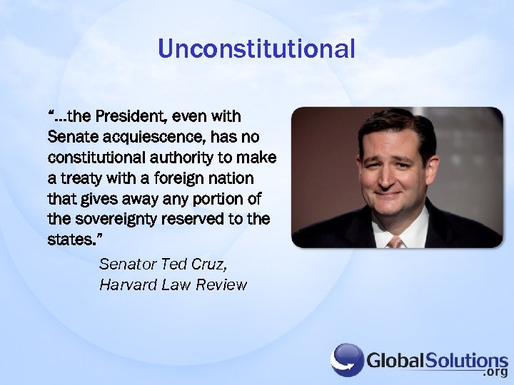 "Unconstitutional ""…the President, even with Senate acquiescence, has no constitutional authority to make a"