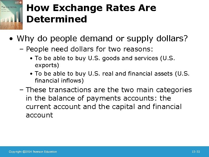 How Exchange Rates Are Determined • Why do people demand or supply dollars? –