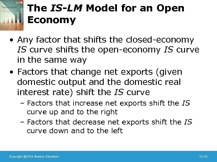 The IS-LM Model for an Open Economy • Any factor that shifts the closed-economy