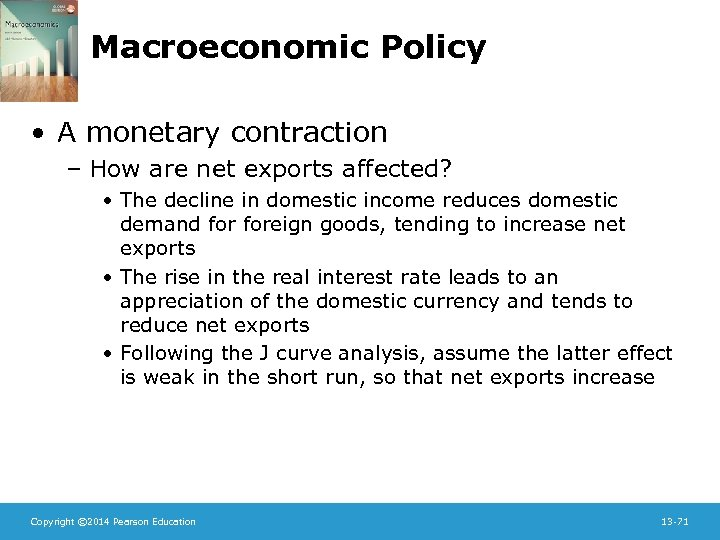 Macroeconomic Policy • A monetary contraction – How are net exports affected? • The