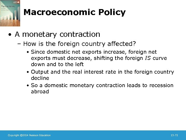 Macroeconomic Policy • A monetary contraction – How is the foreign country affected? •