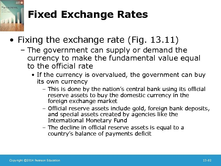 Fixed Exchange Rates • Fixing the exchange rate (Fig. 13. 11) – The government