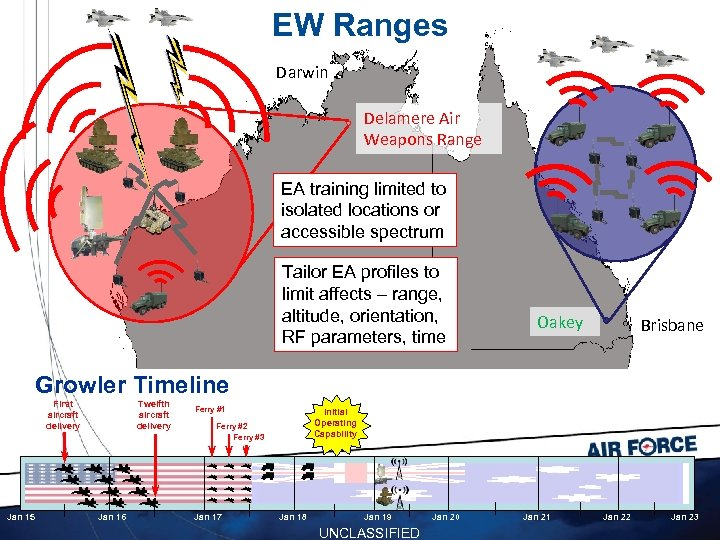 EW Ranges Darwin Delamere Air Weapons Range EA training limited to isolated locations or