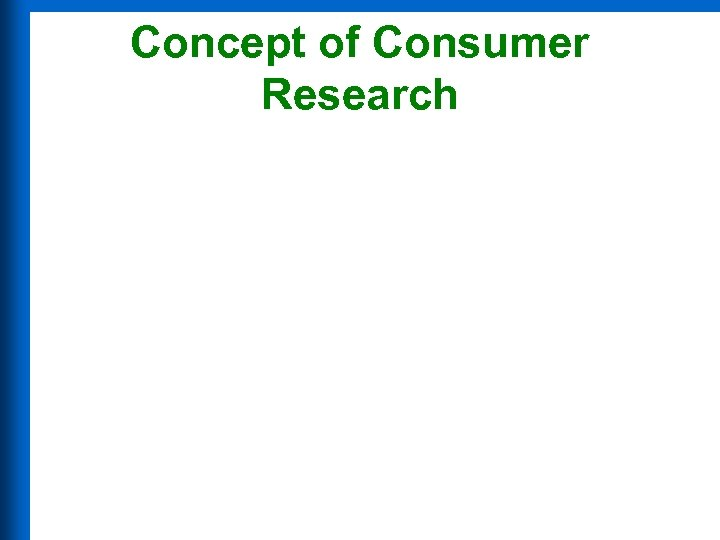 Concept of Consumer Research