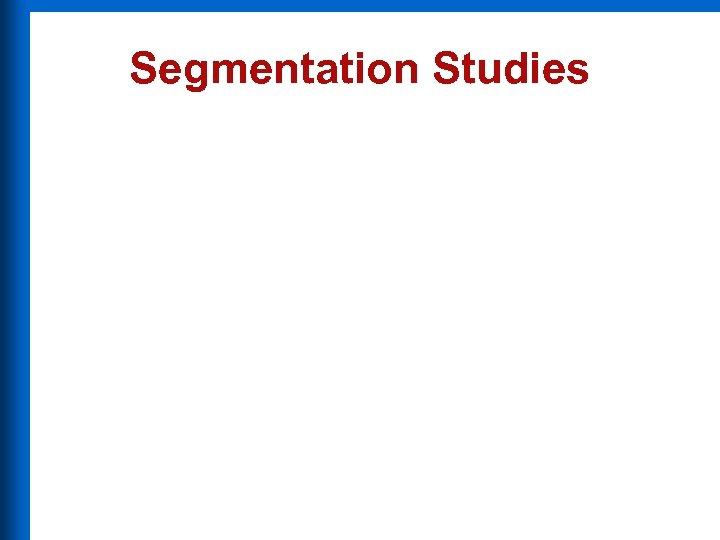 Segmentation Studies