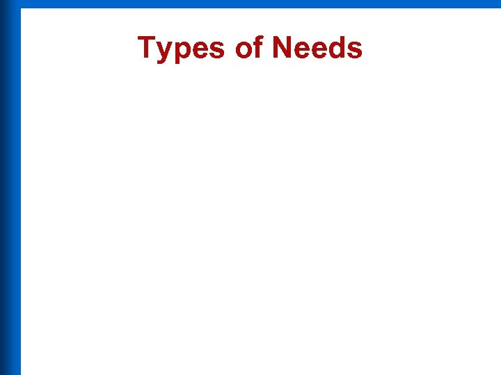 Types of Needs