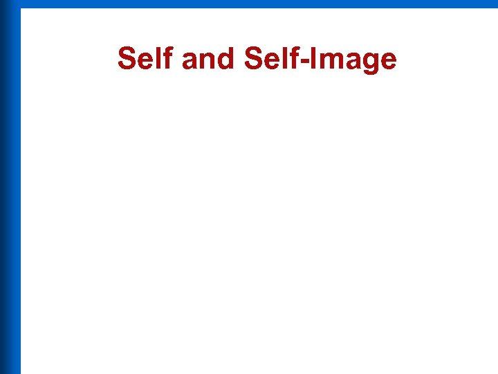 Self and Self-Image