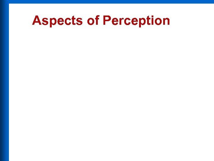 Aspects of Perception
