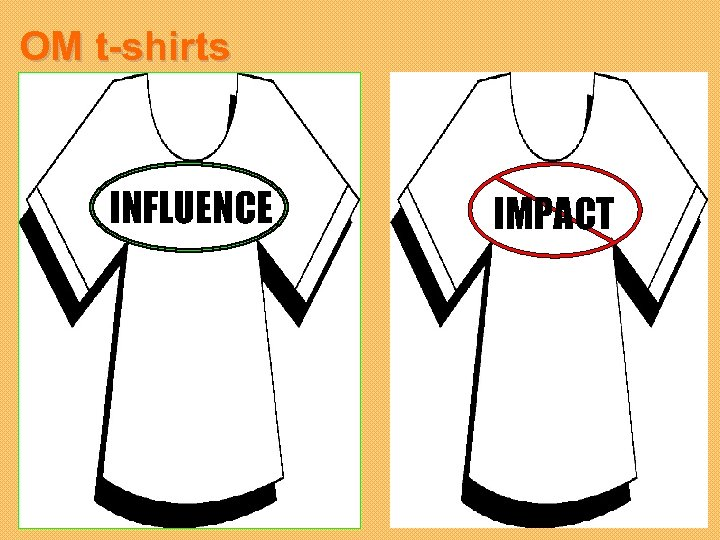 OM t-shirts INFLUENCE IMPACT
