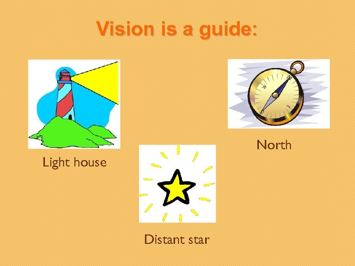 Vision is a guide: North Light house Distant star