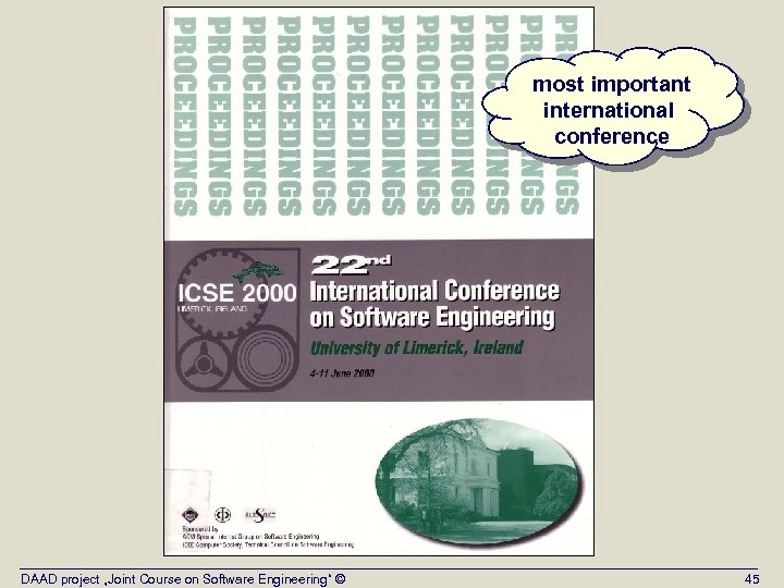 """most important international conference DAAD project """"Joint Course on Software Engineering"""" © 45"""