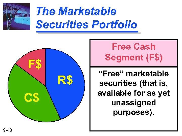 """The Marketable Securities Portfolio Free Cash Segment (F$) F$ R$ C$ 9 -43 """"Free"""""""