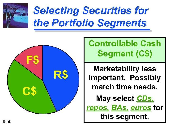 Selecting Securities for the Portfolio Segments Controllable Cash Segment (C$) F$ R$ C$ 9