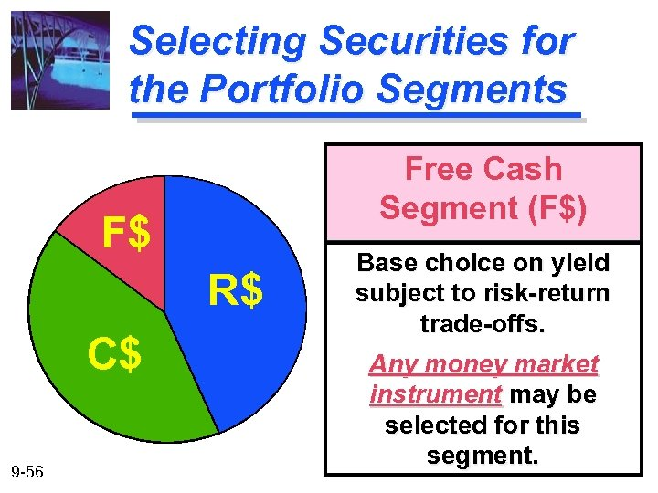 Selecting Securities for the Portfolio Segments Free Cash Segment (F$) F$ R$ C$ 9