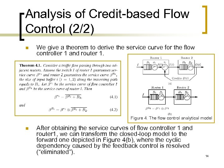 Analysis of Credit-based Flow Control (2/2) n We give a theorem to derive the