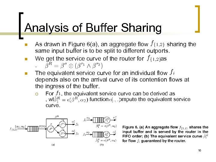 Analysis of Buffer Sharing n n n As drawn in Figure 6(a), an aggregate