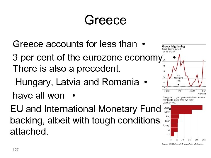 Greece accounts for less than • 3 per cent of the eurozone economy. •