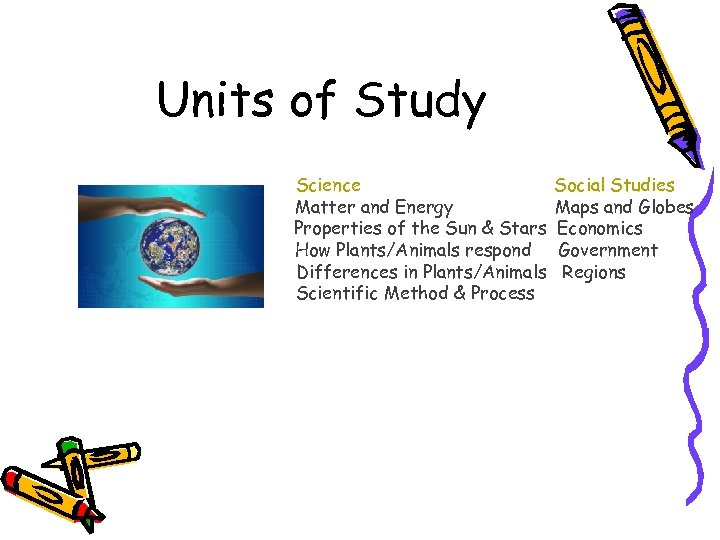 Units of Study Map & Globesm Science Matter and Energy Properties of the Sun