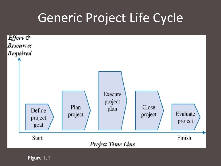 Generic Project Life Cycle Figure 1. 4
