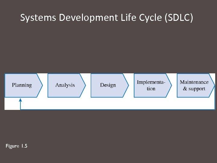 Systems Development Life Cycle (SDLC) Figure 1. 5