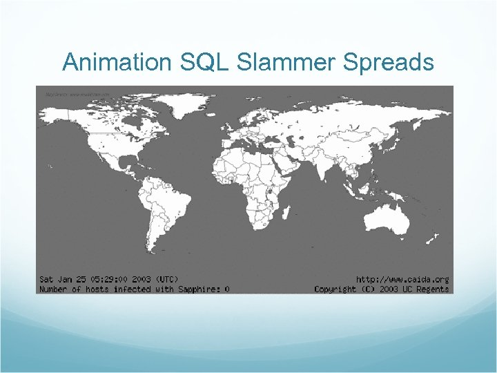 Animation SQL Slammer Spreads