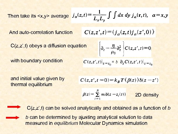 Liquid flows on surfaces the boundary condition