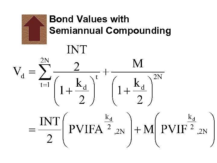 Bond Values with Semiannual Compounding