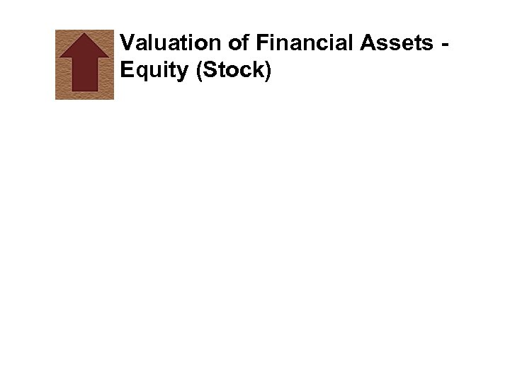 Valuation of Financial Assets Equity (Stock)