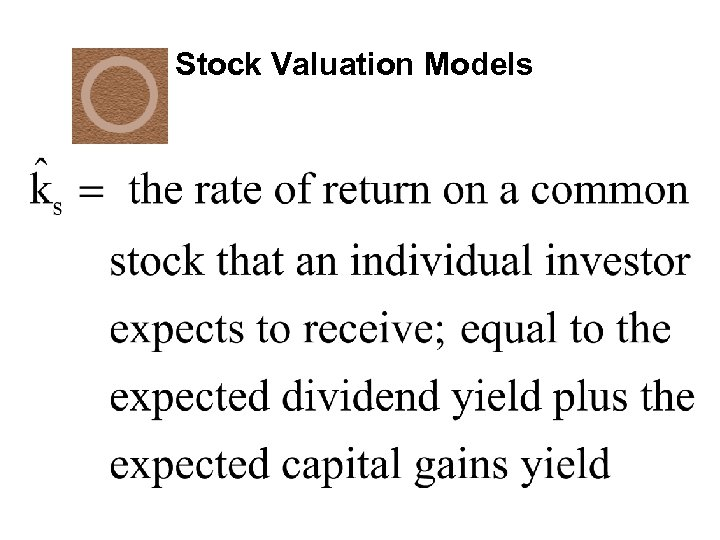 Stock Valuation Models
