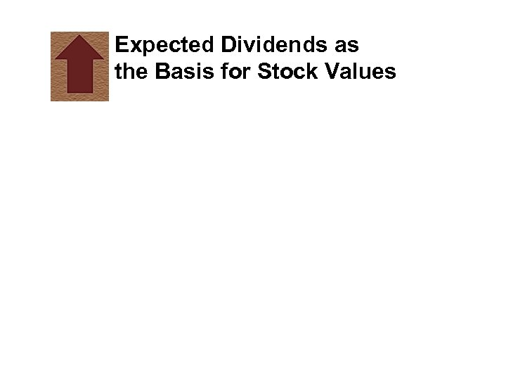 Expected Dividends as the Basis for Stock Values