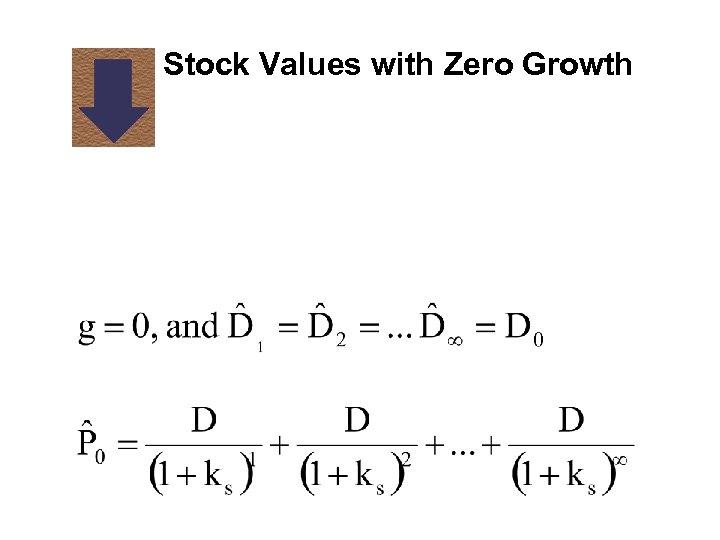 Stock Values with Zero Growth