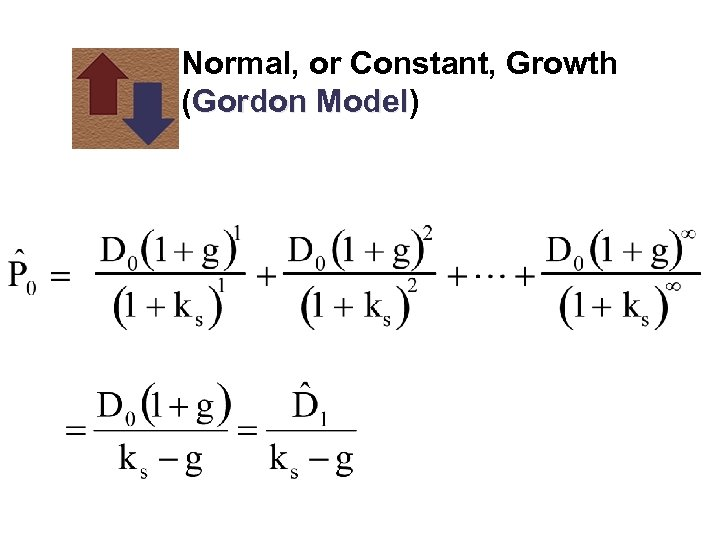 Normal, or Constant, Growth (Gordon Model) Model
