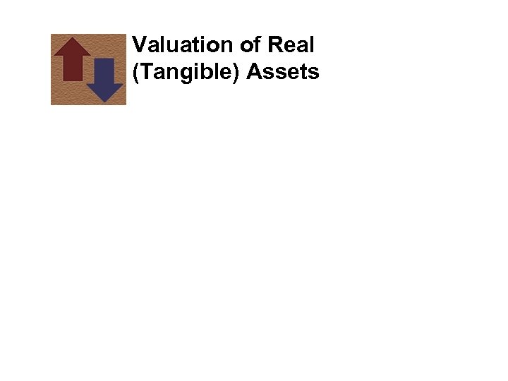 Valuation of Real (Tangible) Assets