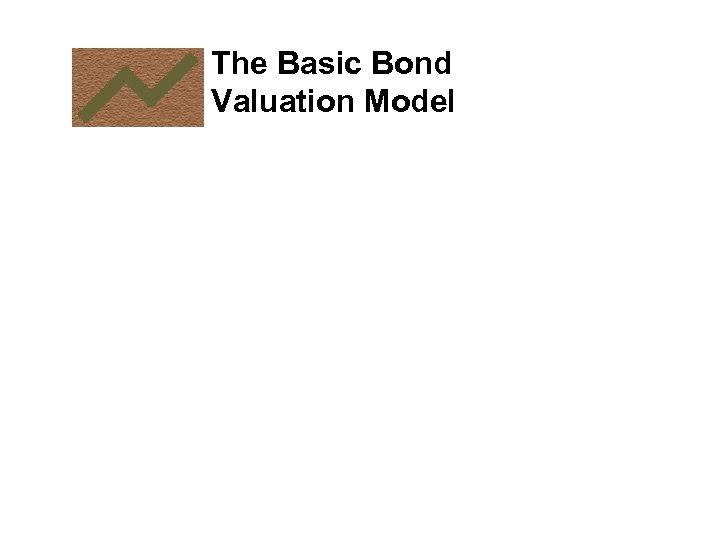 The Basic Bond Valuation Model