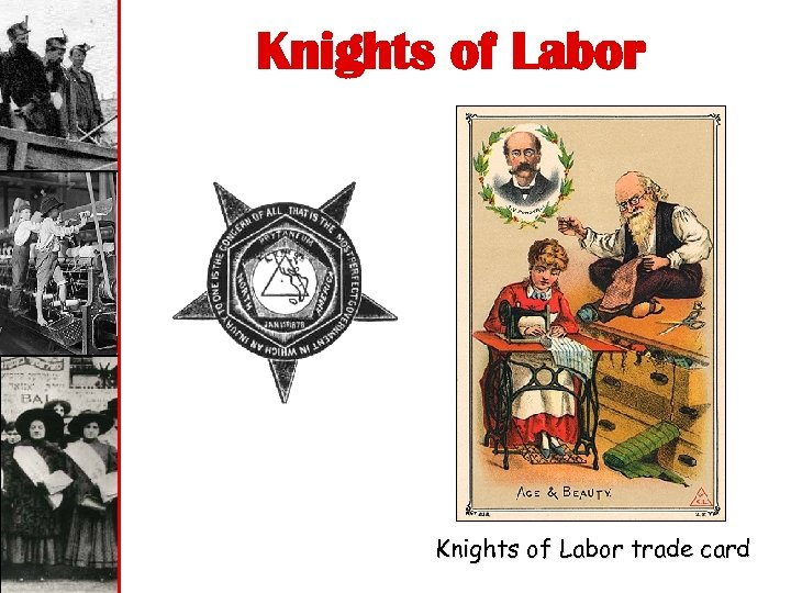 Knights of Labor trade card