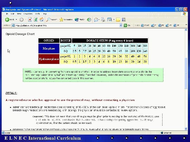 E L N E C International Curriculum