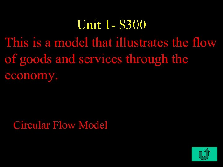Unit 1 - $300 This is a model that illustrates the flow of goods