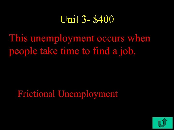Unit 3 - $400 This unemployment occurs when people take time to find a