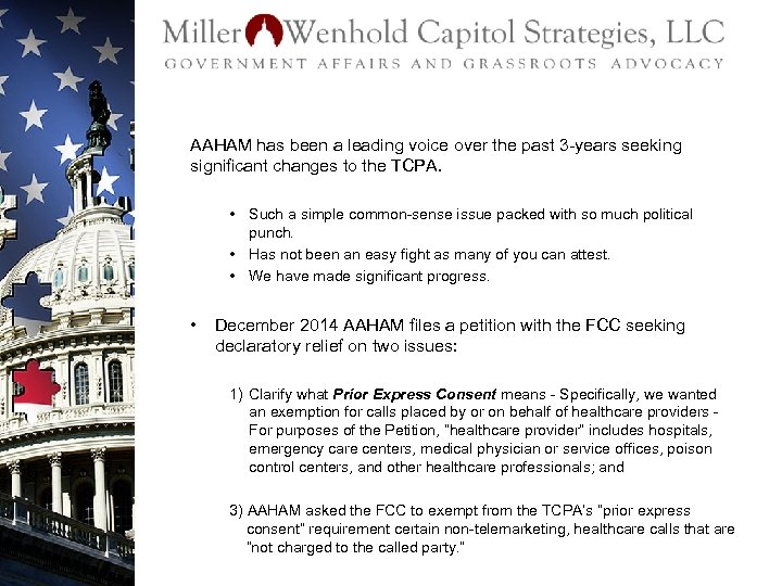 AAHAM has been a leading voice over the past 3 -years seeking significant changes