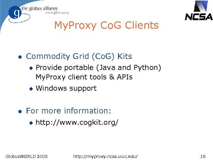 Using the My Proxy Online Credential Repository Jim