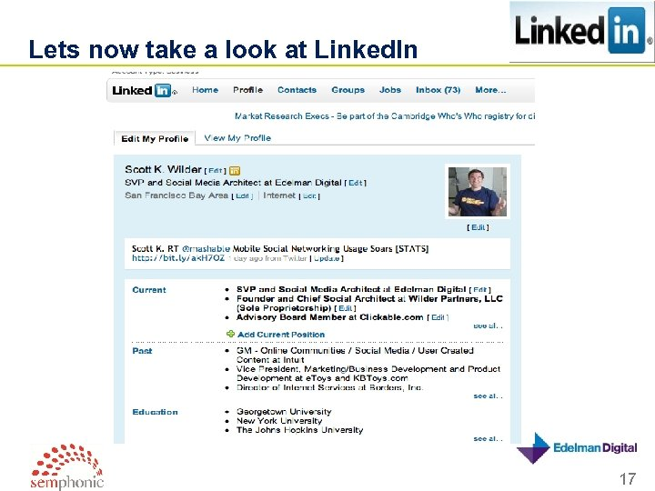 Lets now take a look at Linked. In 17