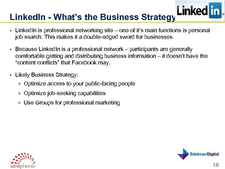 Linked. In - What's the Business Strategy? • Linked. In is professional networking site