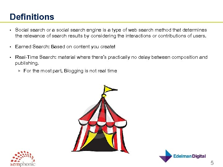 Definitions • Social search or a social search engine is a type of web