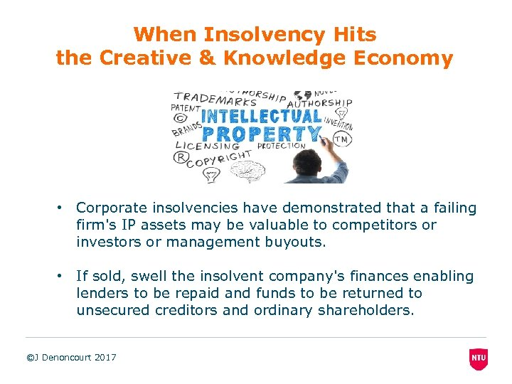 When Insolvency Hits the Creative & Knowledge Economy • Corporate insolvencies have demonstrated that