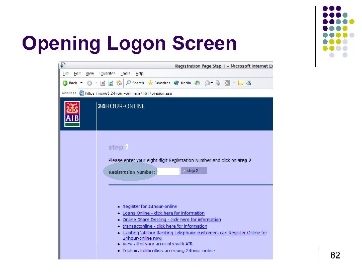 Opening Logon Screen 82