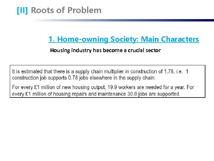 [II] Roots of Problem 1. Home-owning Society: Main Characters Housing industry has become a
