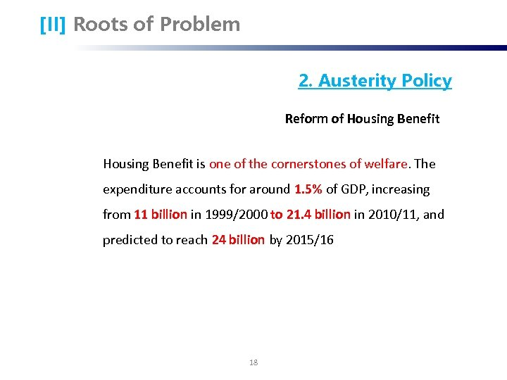 [II] Roots of Problem 2. Austerity Policy Reform of Housing Benefit is one of
