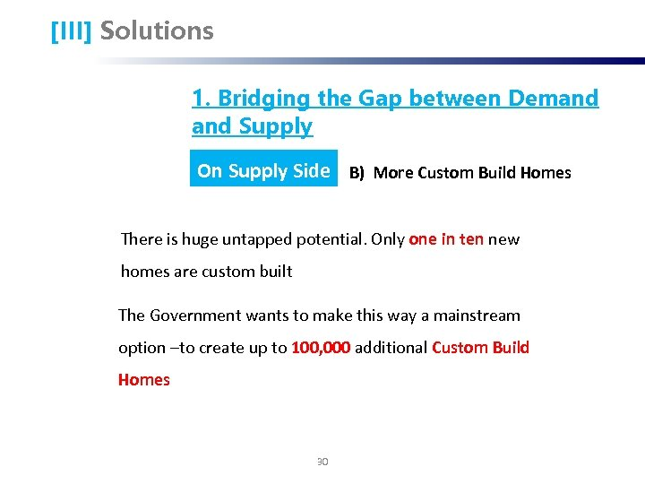 [III] Solutions 1. Bridging the Gap between Demand Supply On Supply Side B) More