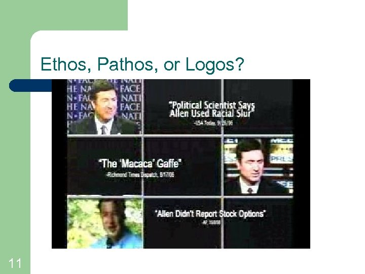 Ethos, Pathos, or Logos? 11