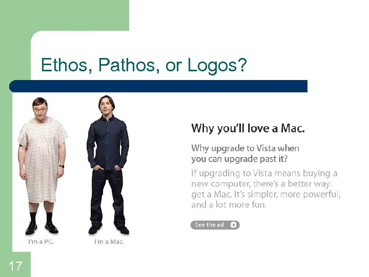 Ethos, Pathos, or Logos? 17